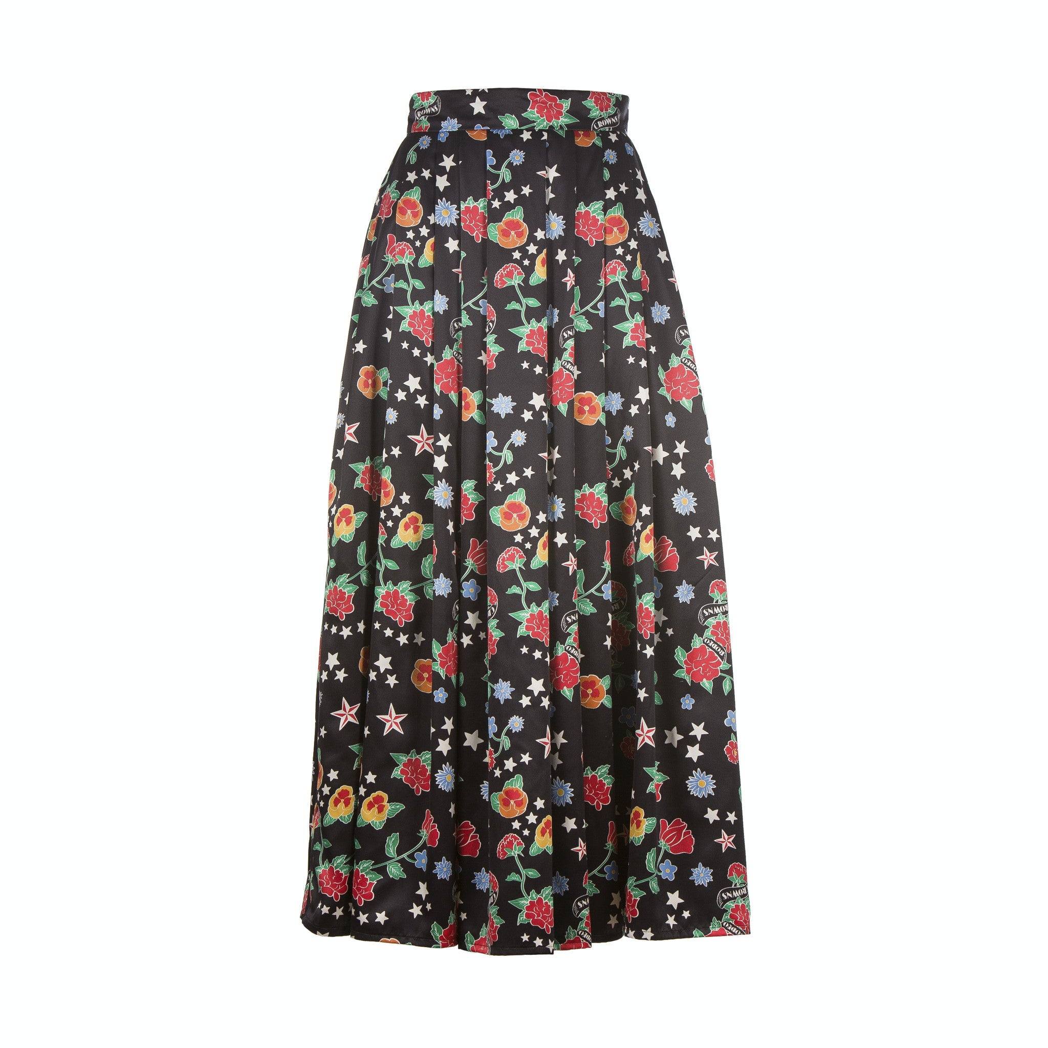 Skirt - extra long - printed satin (S-XXL)
