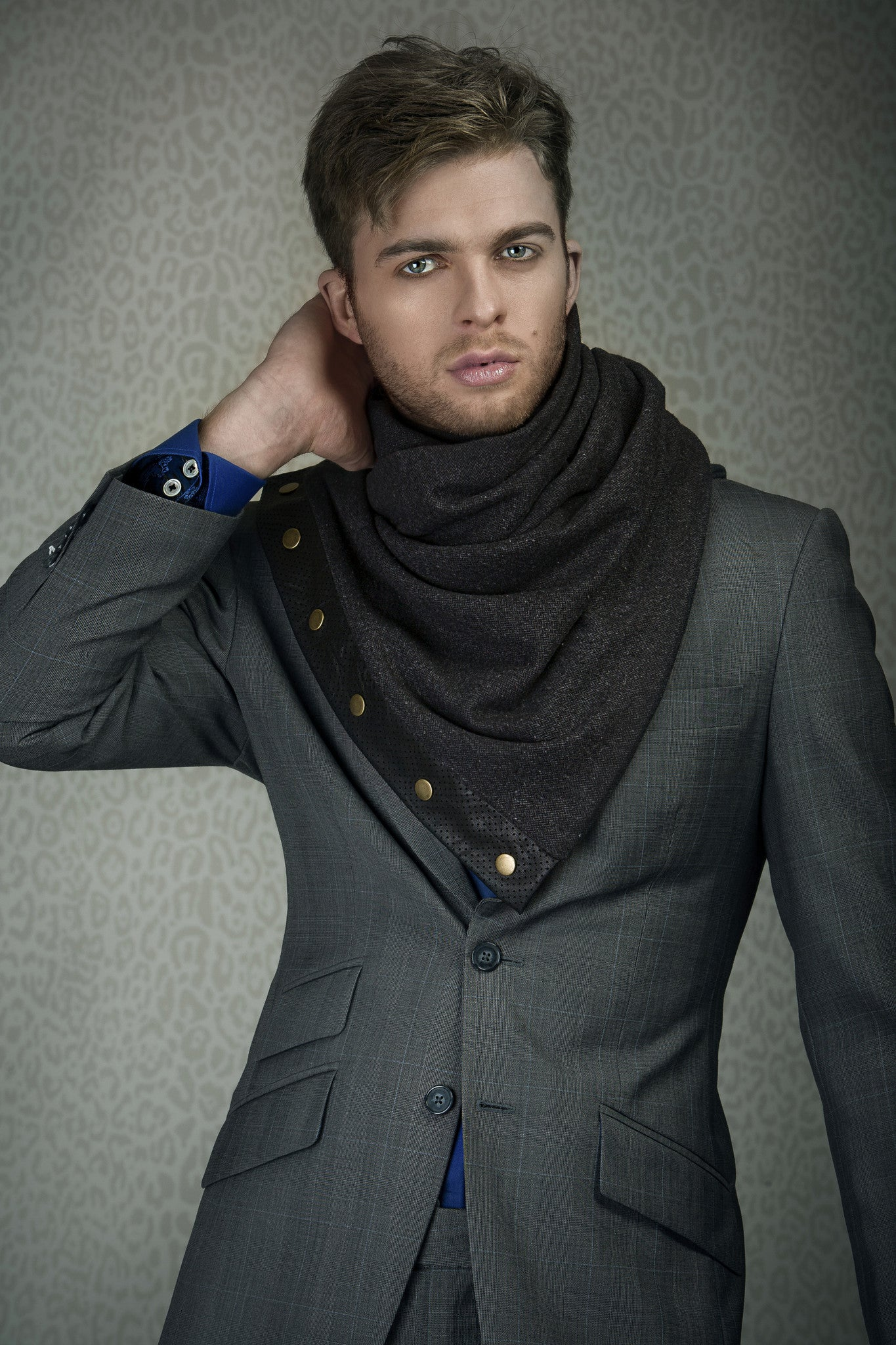 Snap scarf - dark grey