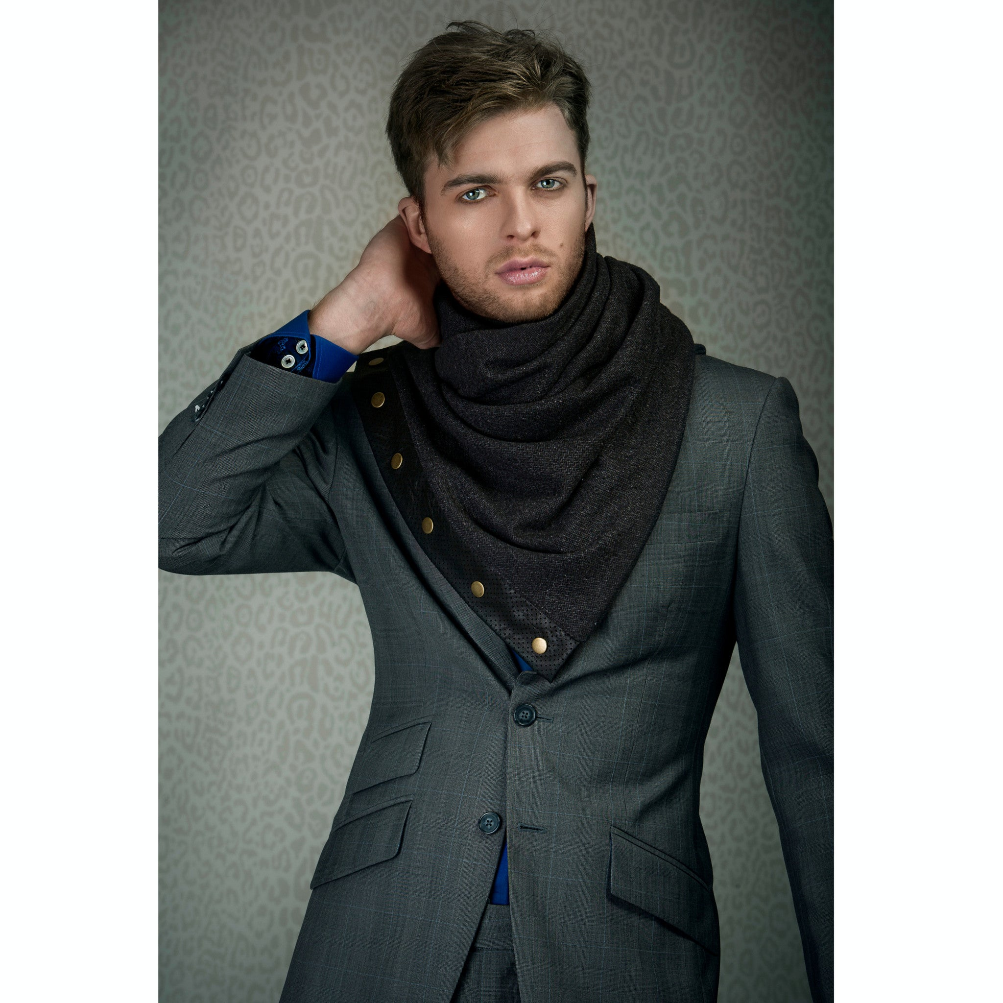 Snap scarf - light grey