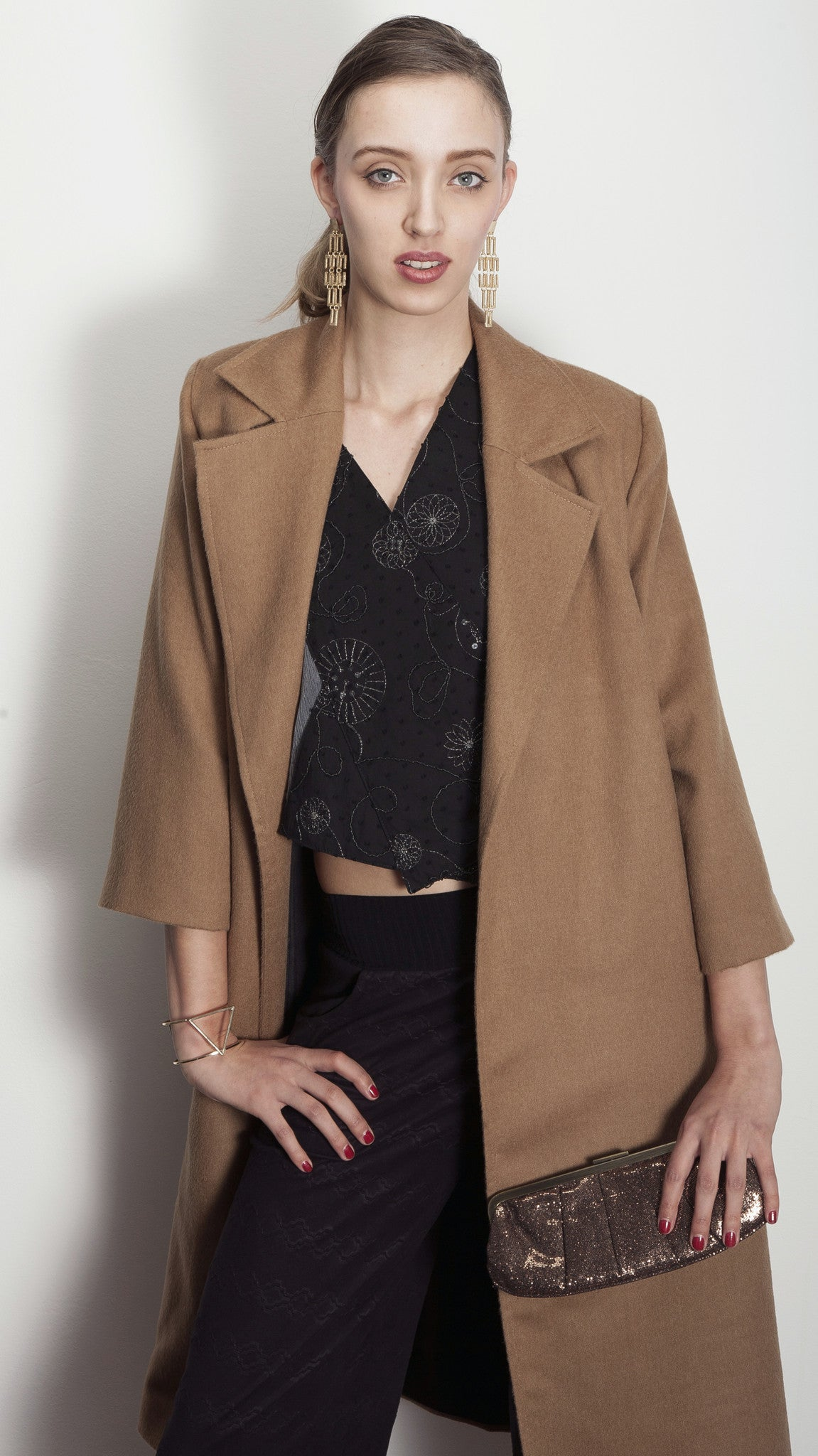 Coat YVONA - brown mohair (S-XXL)