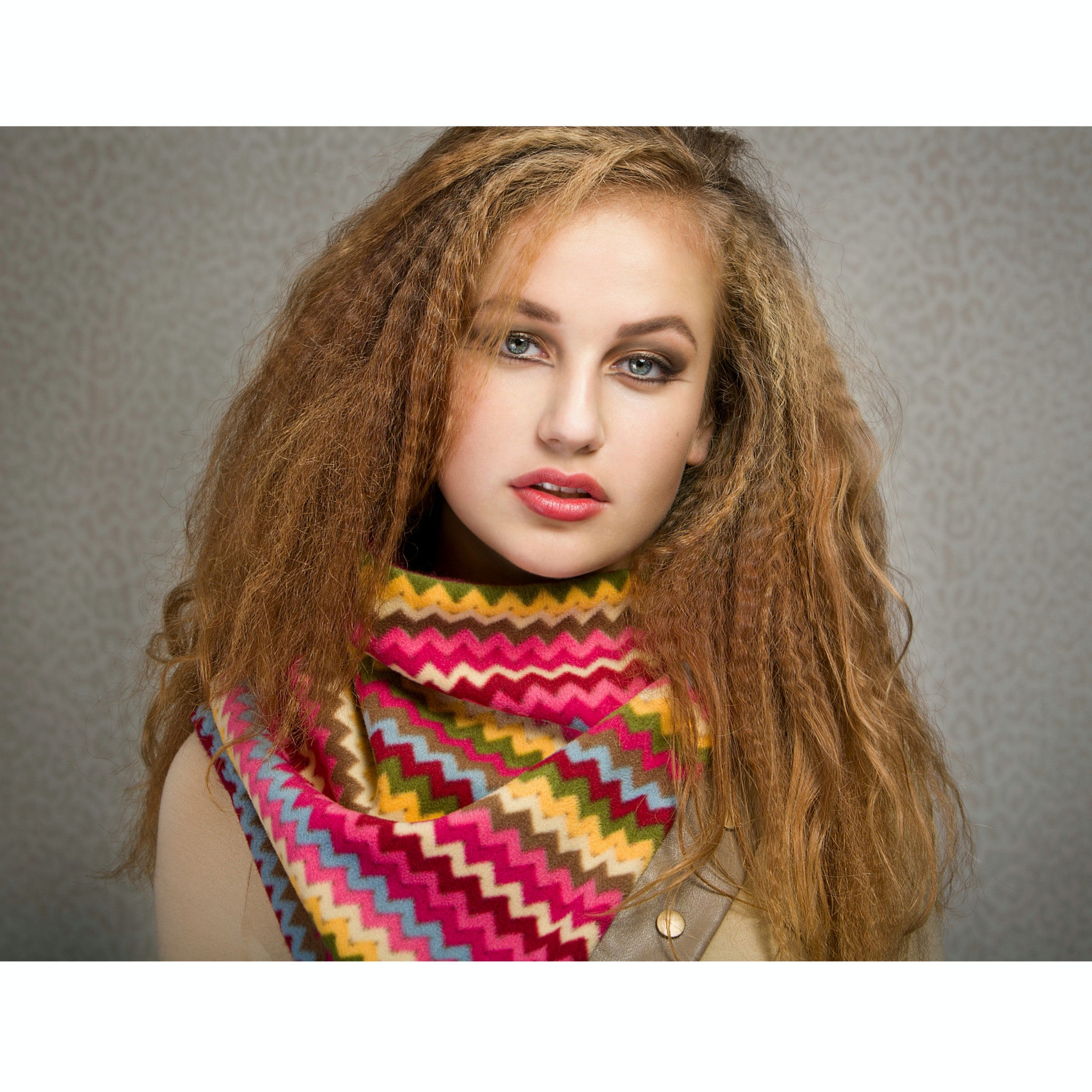 Snap cowl - multicolour fleece