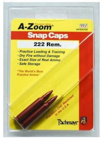 A-ZOOM 222 REMINGTON METAL SNAP CAPS - 2 PACK - 12238