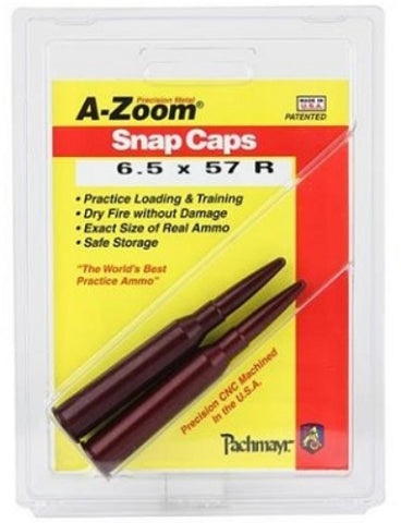 A-ZOOM 6.5X57R SNAP CAPS - 12294
