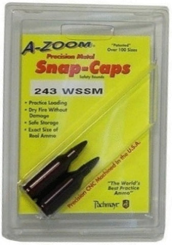 A-ZOOM 243 WSSM METAL SNAP CAPS - 2 PACK - 12298 NOT AMMO
