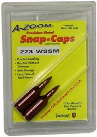 A-ZOOM 223 WSSM METAL SNAP CAPS - 2 PACK - 12299