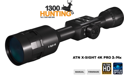 ATN X-SIGHT 4K PRO 5-20X SMART ULTRA HD DAY & NIGHT RIFLE SCOPE - DGWSXS5204KP