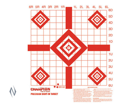 "CHAMPION TARGET REDFIELD PREC SIGHT-IN 16""X16"" 10 PACK - CH47388"