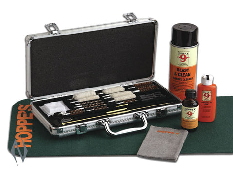 HOPPES DELUXE UNIVERSAL CLEANING KIT IN ALUMINIUM CASE - HPUAC102