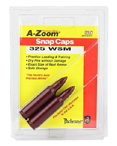 A-ZOOM 325 WSM METAL SNAP CAPS - 2 PACK - 12207