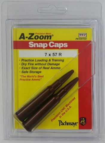 A-ZOOM 7X57R METAL SNAP CAPS - 2 PACK - 12242