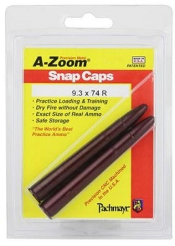 A-ZOOM 9.3X74R METAL SNAP CAPS - 2 PACK - 12269