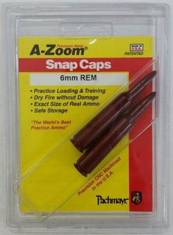 A-ZOOM 6MM REMINGTON SNAP CAPS - 12276