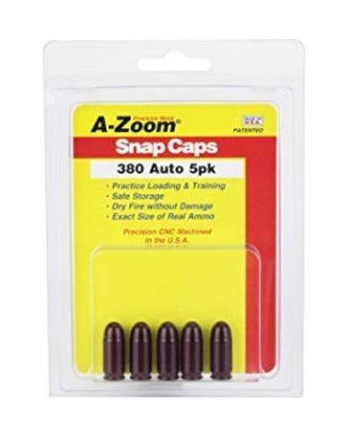 A-ZOOM 380 AUTO METAL SNAP CAPS - 5 PACK - 15113