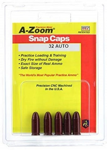 A-ZOOM 32 AUTO METAL SNAP CAPS - 5 PACK - 15153