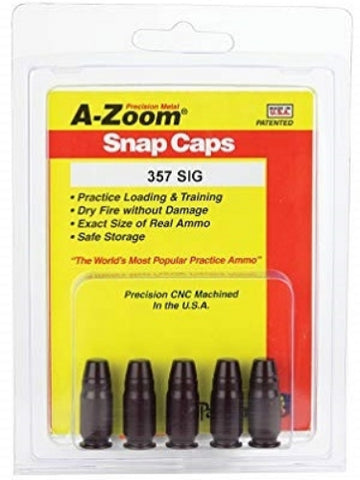 A-ZOOM 357 SIG METAL SNAP CAPS - PACK 5 - 15159 NOT AMMO