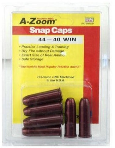 A-ZOOM 44-40 WIN METAL SNAP CAPS - 6 PACK - 16123