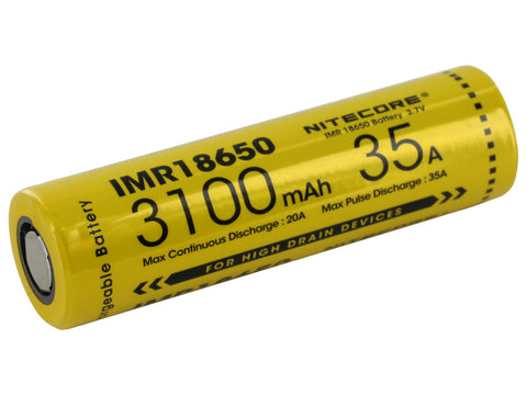 NITECORE 3100MAH 35A BATTERY IMR18650-3100