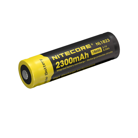 NITECORE 2300MAH RECHARGABLE LI-ION 3.7V 18650 BATTERY NL1823