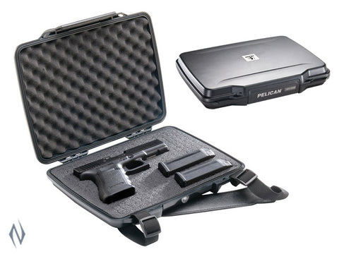 PELICAN 1075 SINGLE HANDGUN HARDBACK CASE BLACK - P1075B