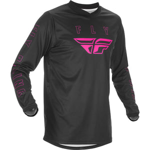 Fly Racing Youth F-16 Race Jersey - Black/Pink
