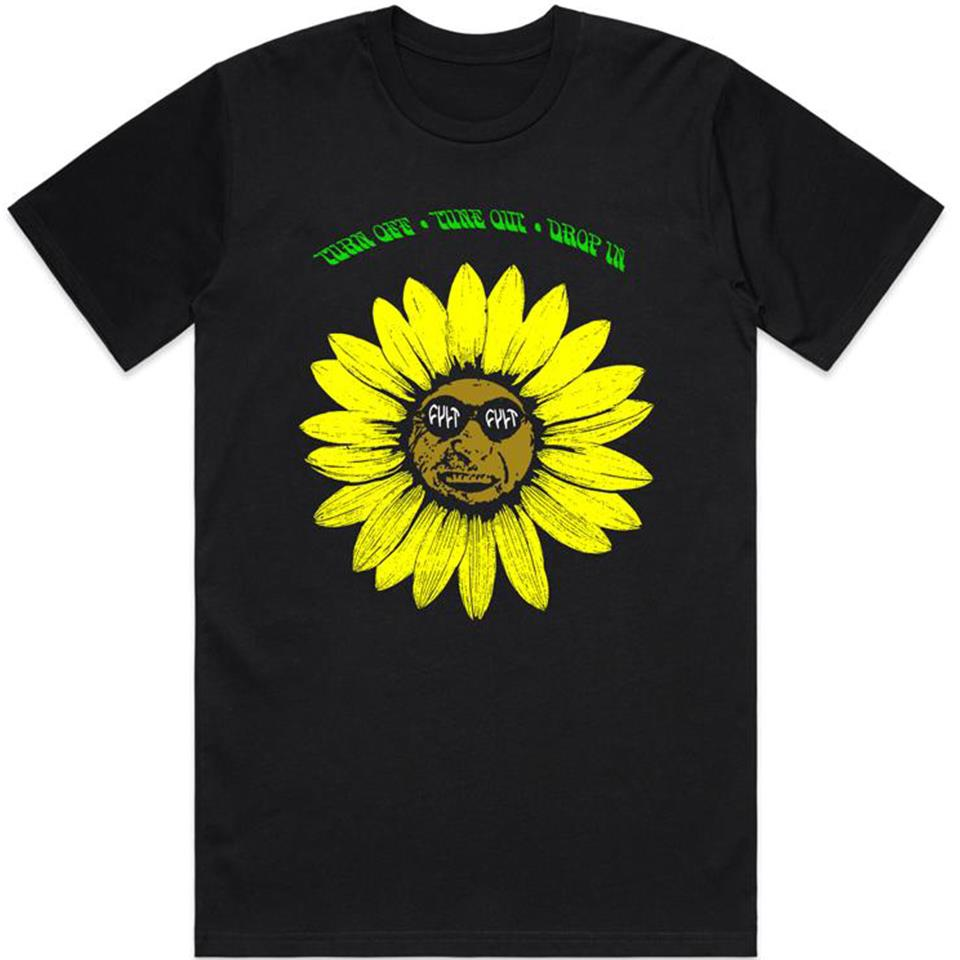 Cult Sunflower T-Shirt - Black