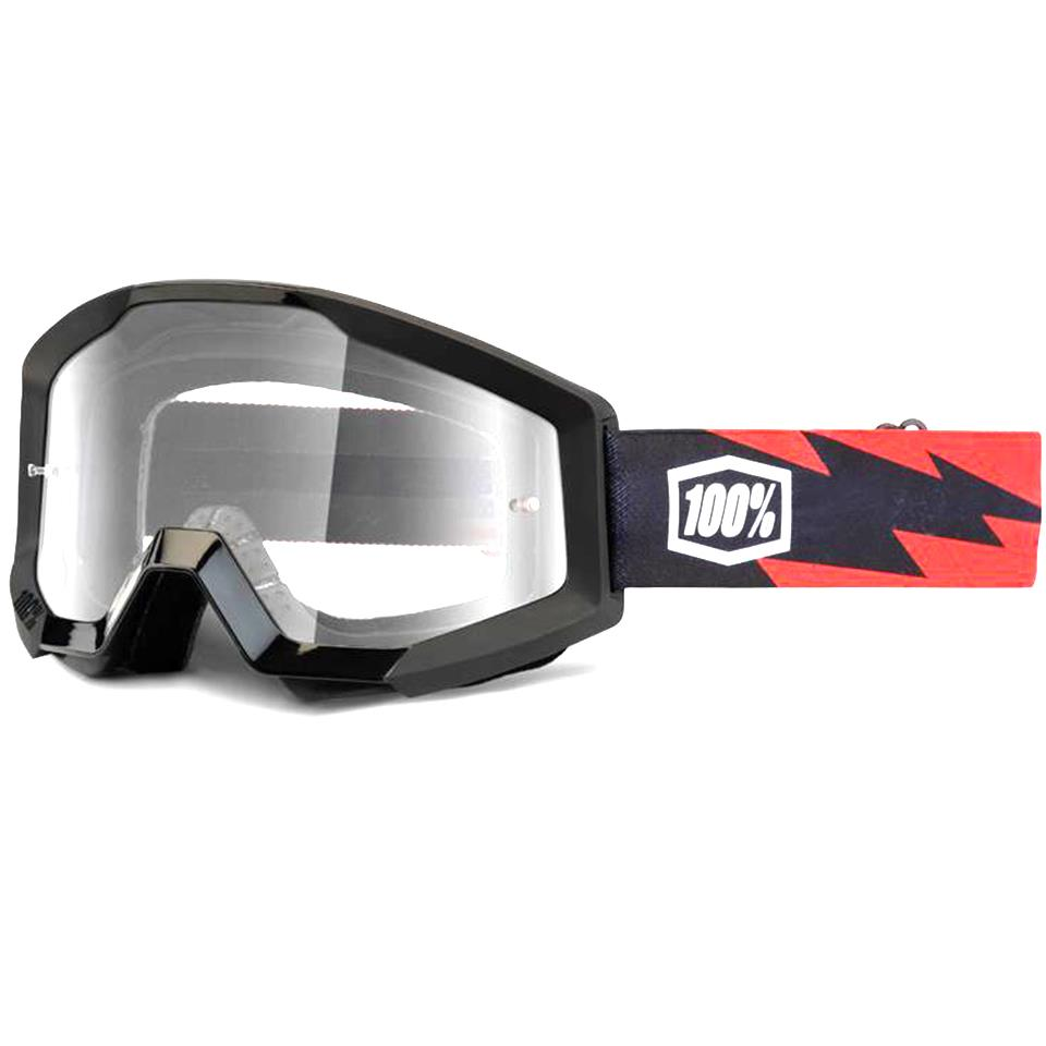 100% Strata Goggles Slash/Clear Lens