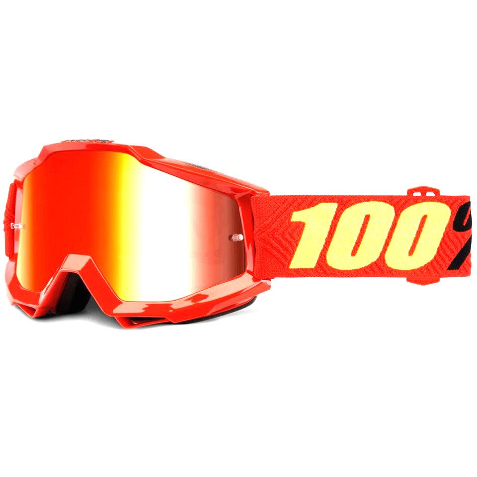100% Accuri Youth Goggles Saarinen/Mirror Red Lens