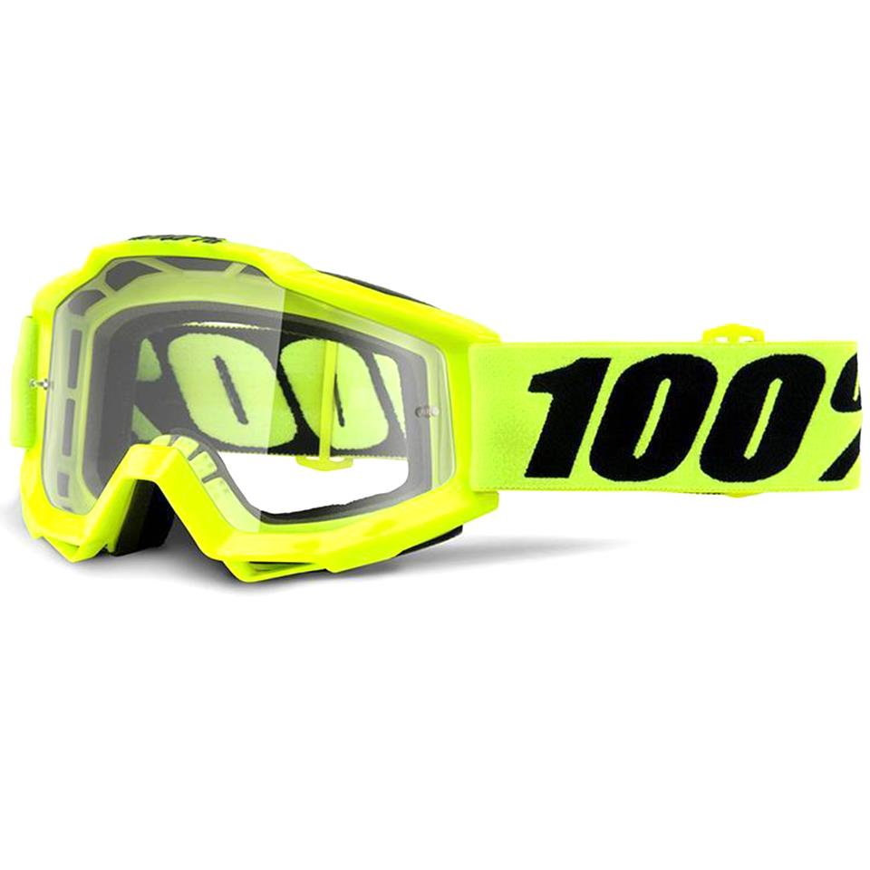 100% Accuri Goggles - Fluo Yellow/Clear Lens