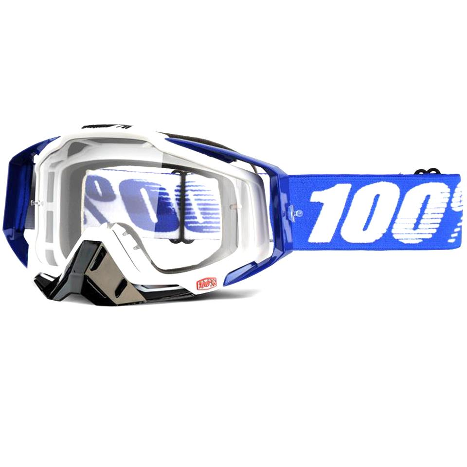 100% Racecraft Goggles - Cobalt Blue/Clear Lens
