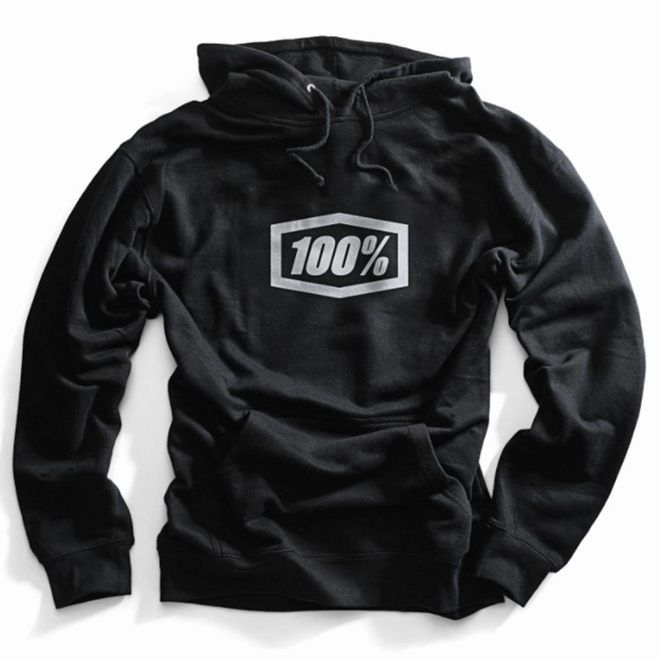 100% Essential Hooded Pullover Sweatshirt - Black