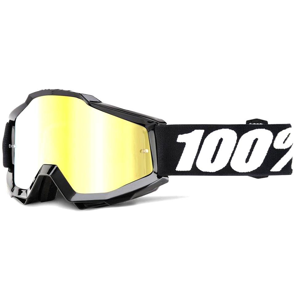 100% Accuri Race Goggle - Tornado/Mirror Gold Lens