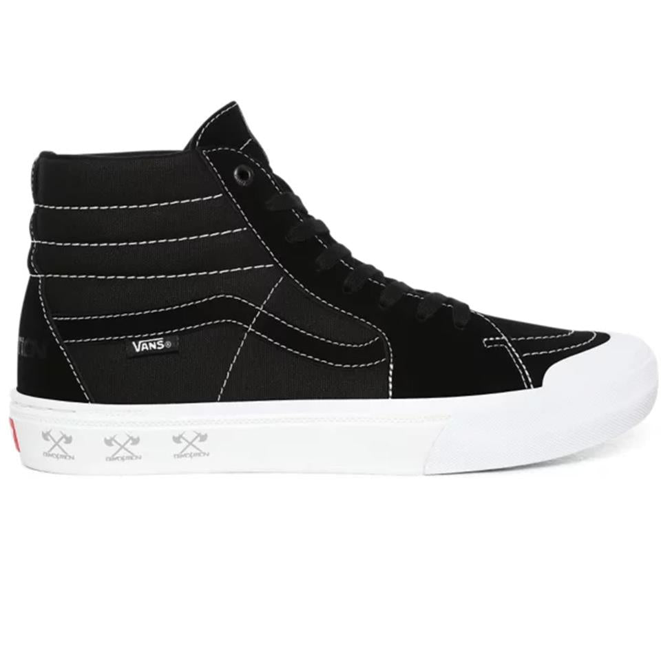 Vans X Demolition Sk8 Hi Pro BMX Shoes - Black/White