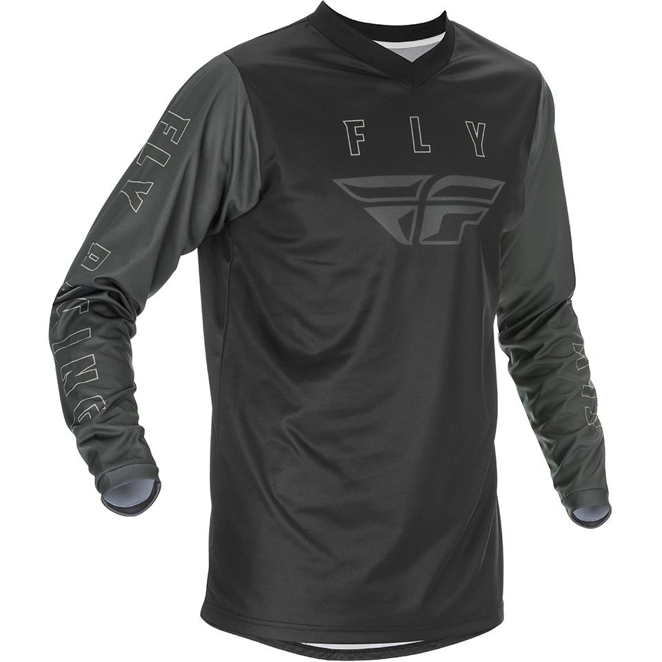 Fly Racing F-16 Race Jersey - Black/Grey