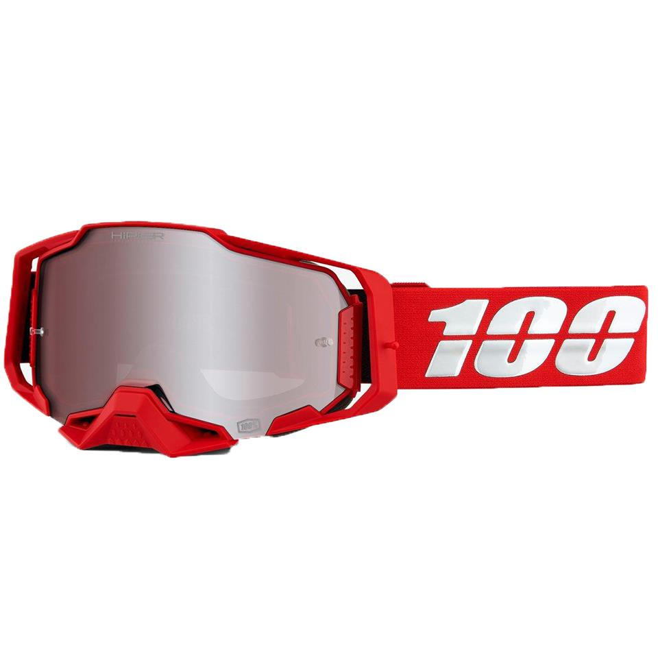 100% Strata Mini Goggle Red/Clear Lens