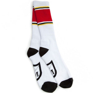 S&M Retrograde Socks White/Red