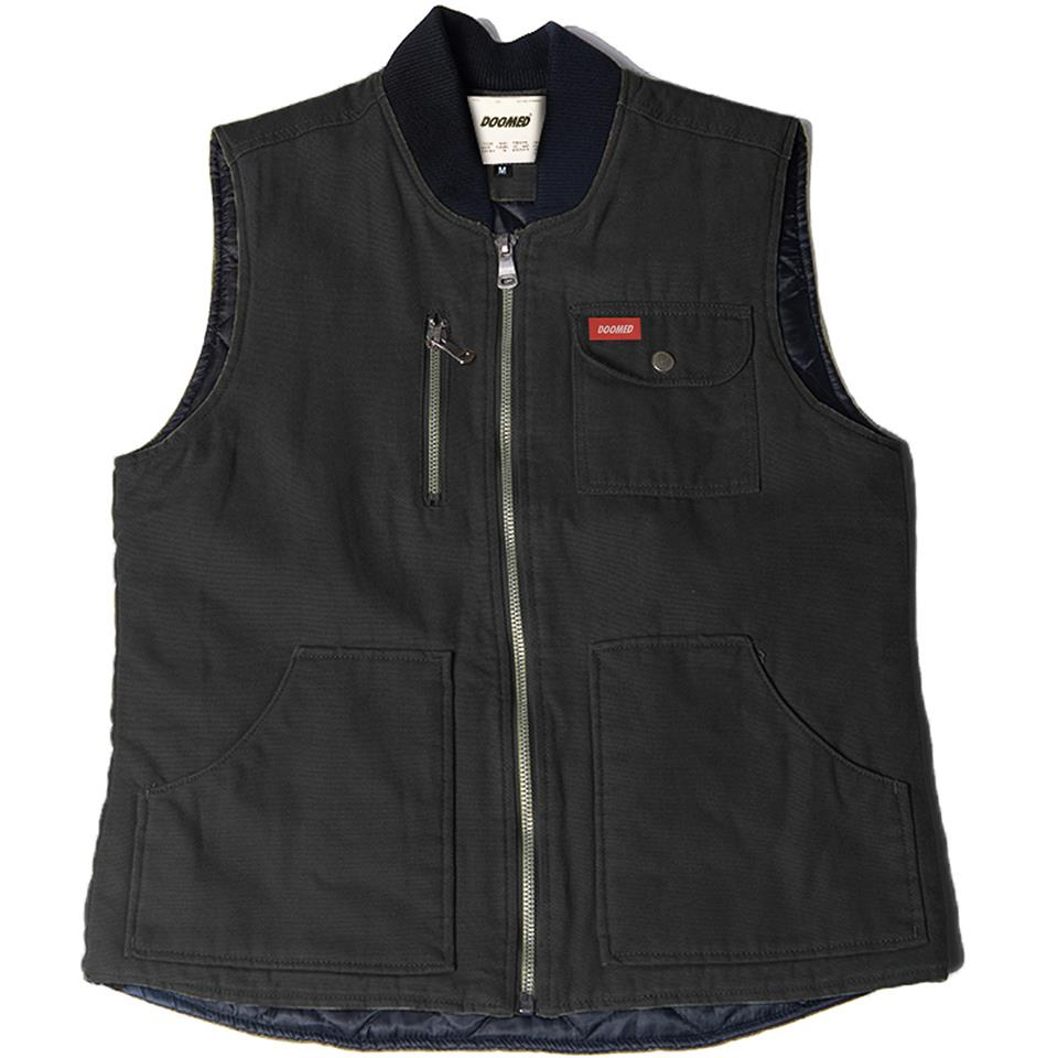 Doomed Labor Vest - Black/Grey