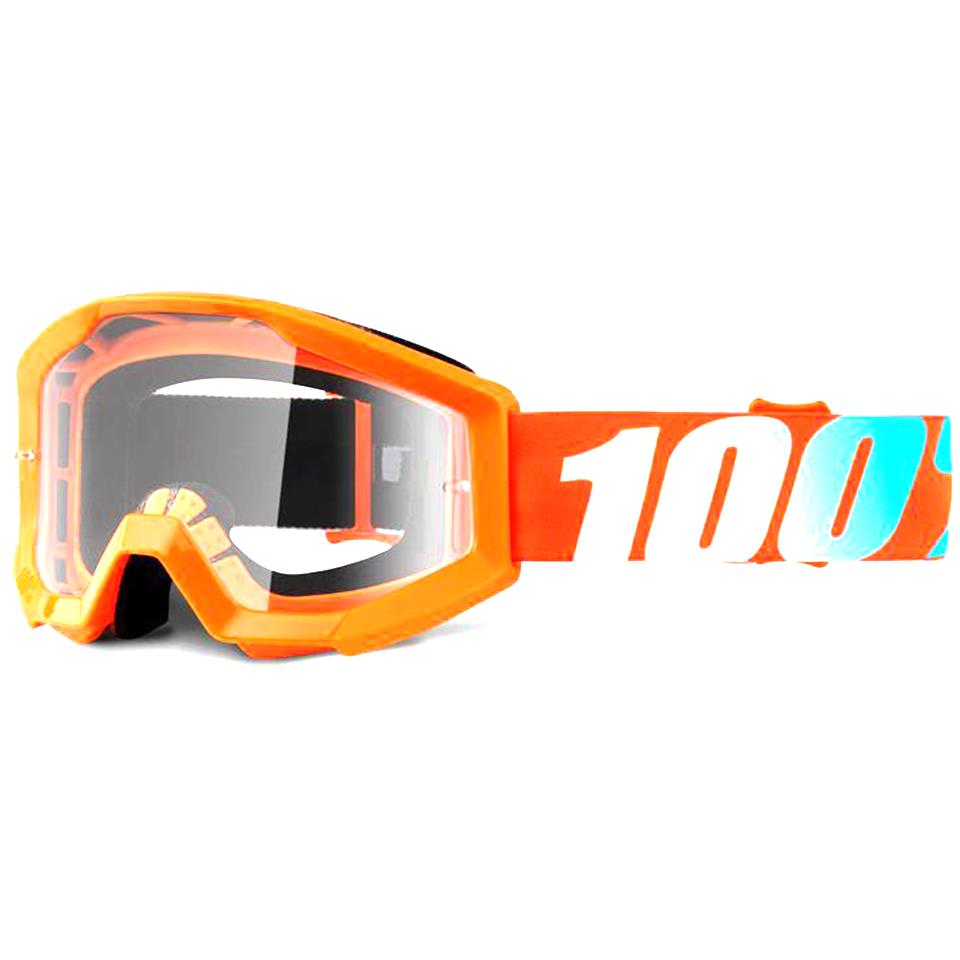 100% Strata JR Goggles Orange/Clear Lens