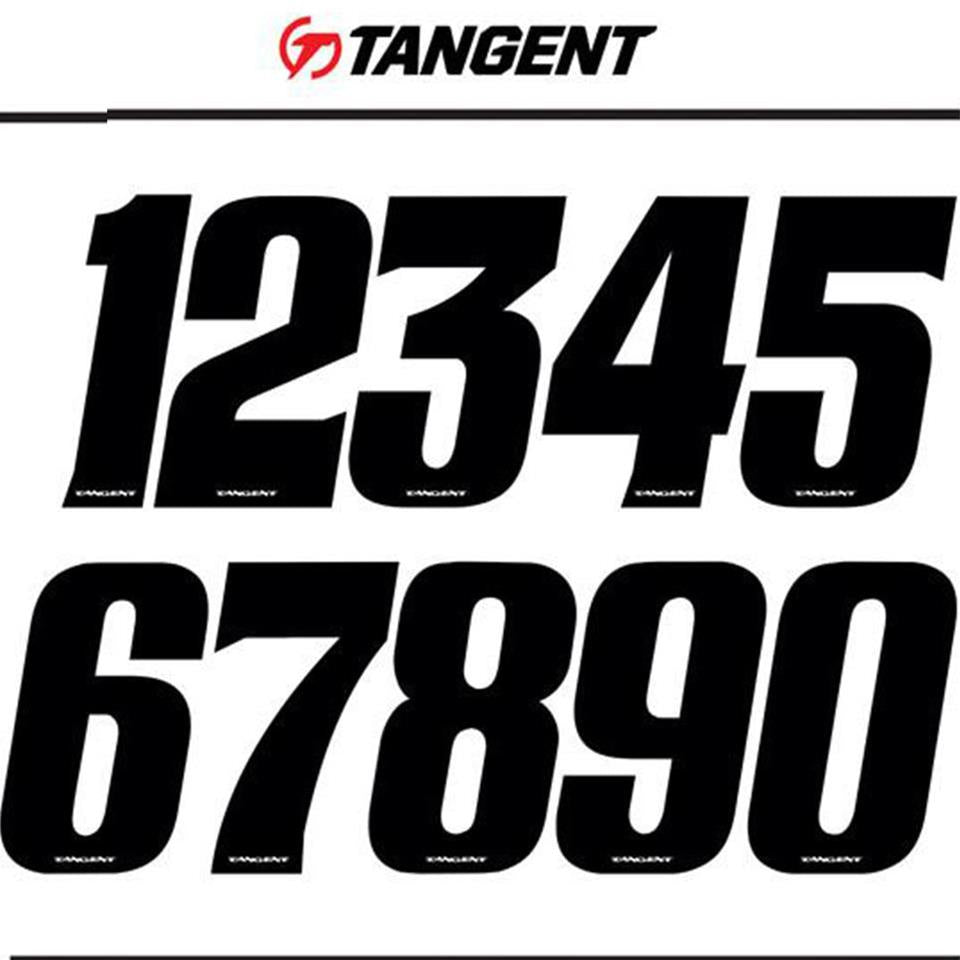 Tangent BMX Race Side Plate Number (Single) - Black