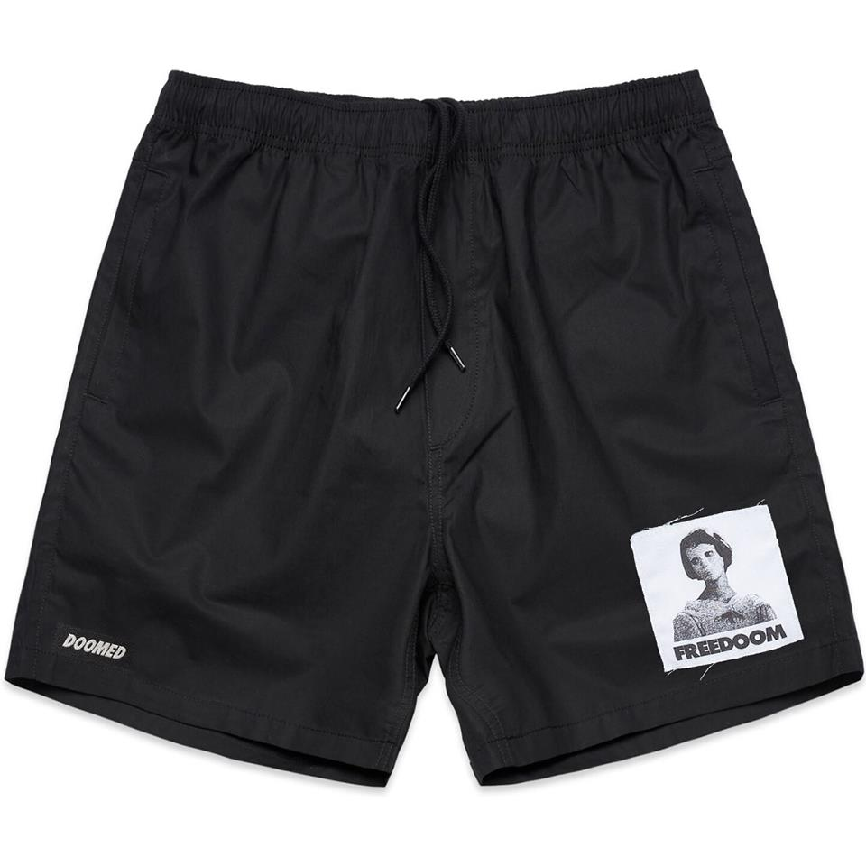 Doomed Patch Shorts - Black
