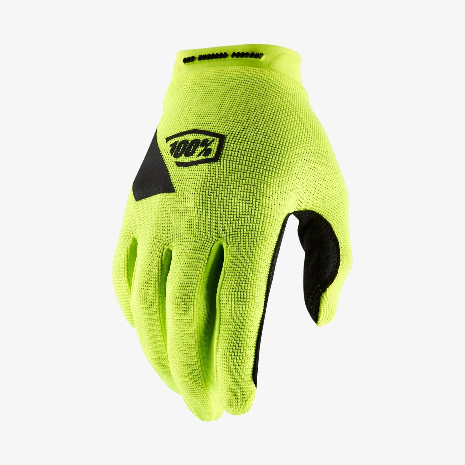 100% Ridecamp Race Gloves - Fluo Yellow
