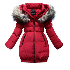 Luxury Fur Collar Girls 80% Down Coat 1004 - 365boxingdays - 1