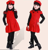 Red Wool Dress Beret 8-12T 1001B - 365boxingdays - 4