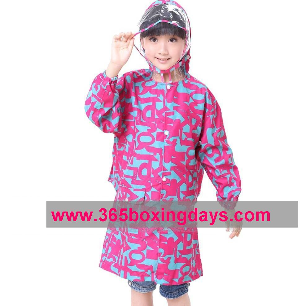PU Huge Brim Backpack Raincoat for Heavy Rain 1042