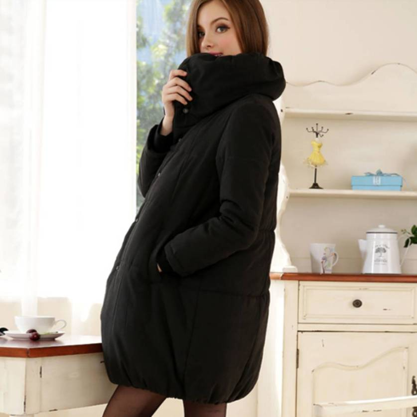 Big Turtle Neck Maternity Winter Warm Coat