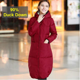 2 Sides Wear Long Pear 90% Down Coat 2084 - 365boxingdays - 1