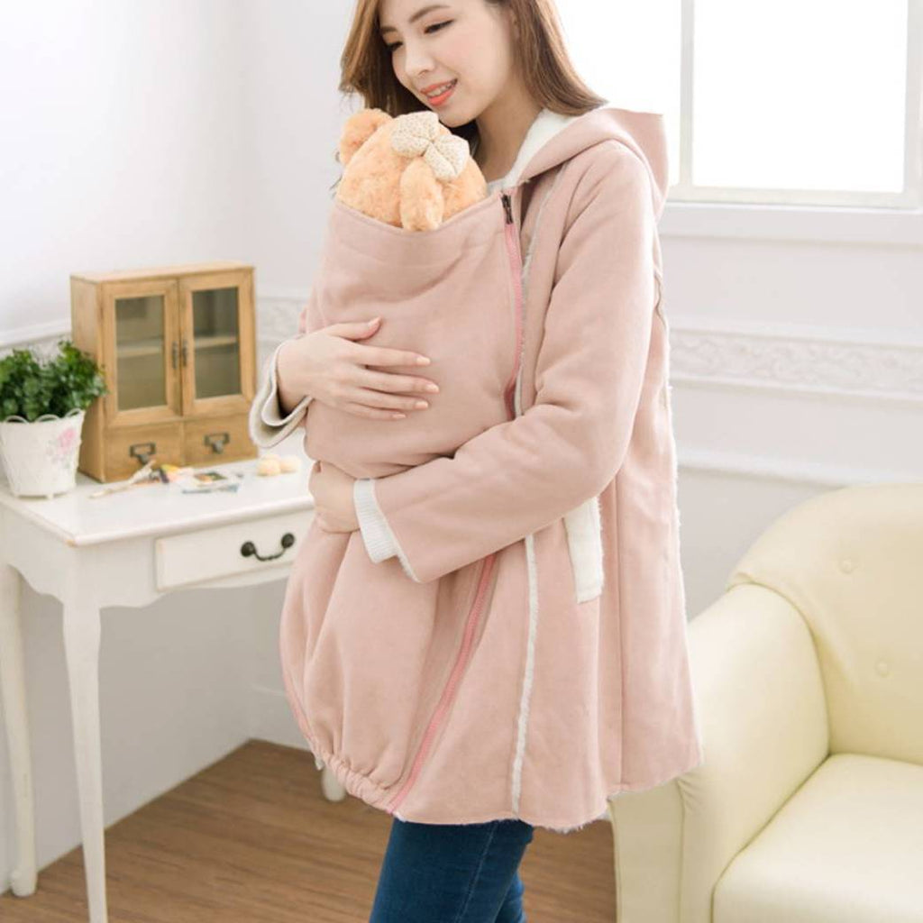 Suede Fleece Mom carry Baby 2in1 Coat