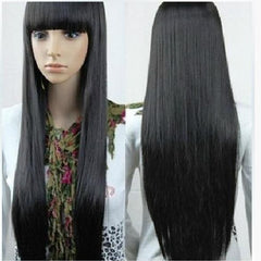 Long Straight Pure Black Wig 6002 - 365boxingdays