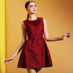 Jewel Lace Tank Short Dress 8002 - 365boxingdays