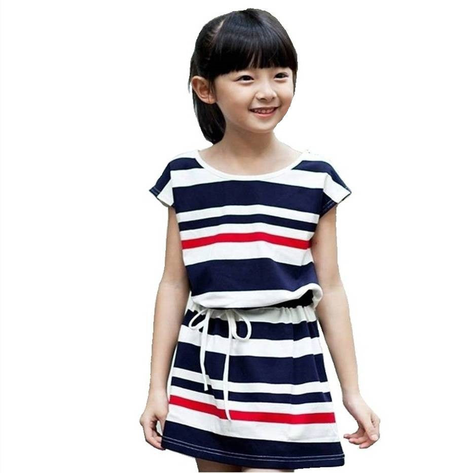 Girl's Summer Navy Dress 2-5T 1011