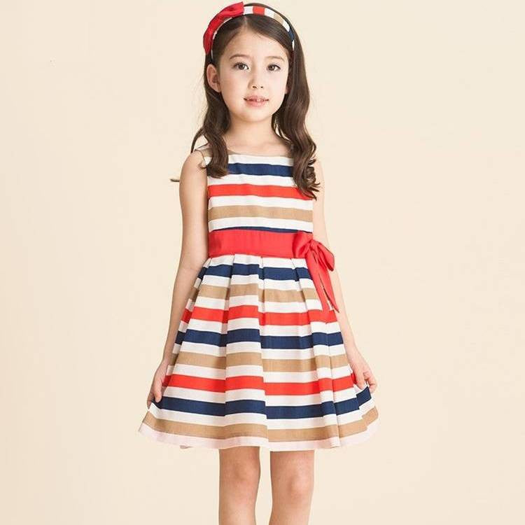 Rainbow Stripes Dress 8-11T 1010B - 365boxingdays - 1